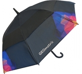 Trekker Executive Auto Vented Printed Walking Umbrella