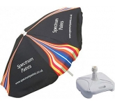 Aluminium Square Parasol  by Gopromotional - we get your brand noticed!