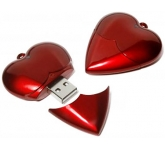 Heart Shaped FlashDrive  by Gopromotional - we get your brand noticed!