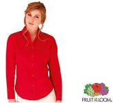 Fruit Of The Loom Women's Fit Long Sleeved Poplin Shirt  by Gopromotional - we get your brand noticed!