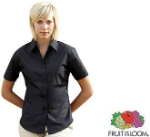 Fruit Of The Loom Women's Fit Short Sleeved Poplin Shirt