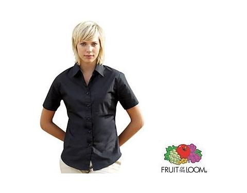 Fruit Of The Loom Women's Fit Short Sleeved Poplin Shirt