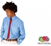Fruit Of The Loom Long Sleeved Poplin Shirt
