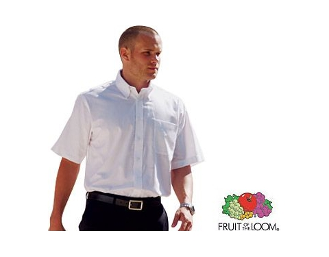 Fruit Of The Loom Men's Short Sleeved Oxford Shirt