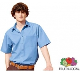 Fruit Of The Loom Short Sleeved Poplin Shirt  by Gopromotional - we get your brand noticed!