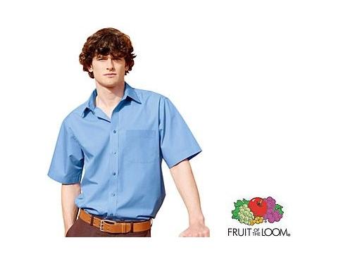 Fruit Of The Loom Short Sleeved Poplin Shirt