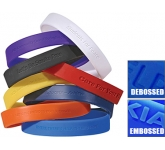 Silicone Wristbands Embossed - Debossed