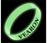 Glow In The Dark Silicone Wristband  by Gopromotional - we get your brand noticed!