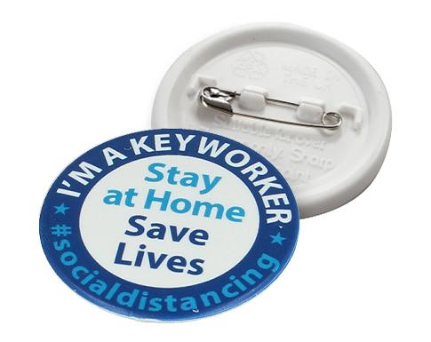 55mm Key Worker Recylced Badge