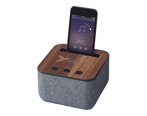 Buxton Fabric & Wood Bluetooth Speaker