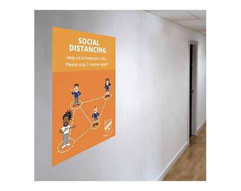 Social Distancing Polyprop Poster - A1