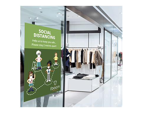 Social Distancing Vinyl Wall Stickers - A2