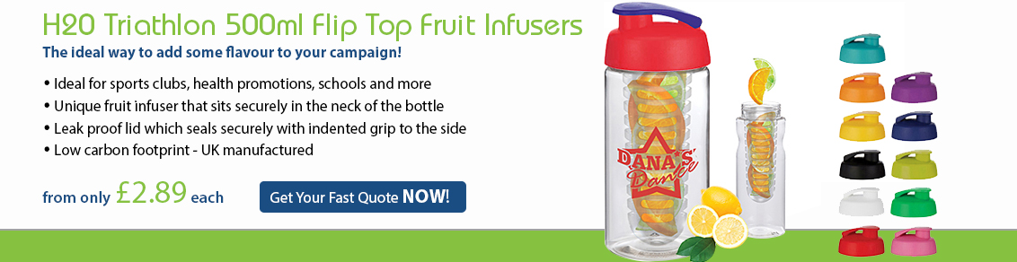 H20 500ml Flip Top Fruit Infusers