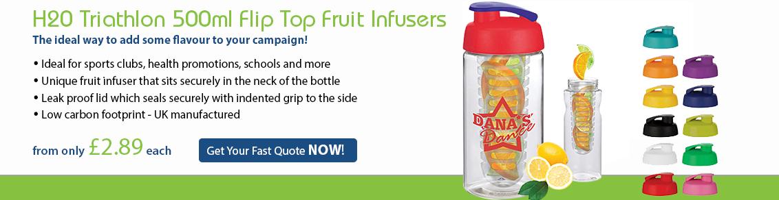 H20 500ml Flip Top Fruit Infusers