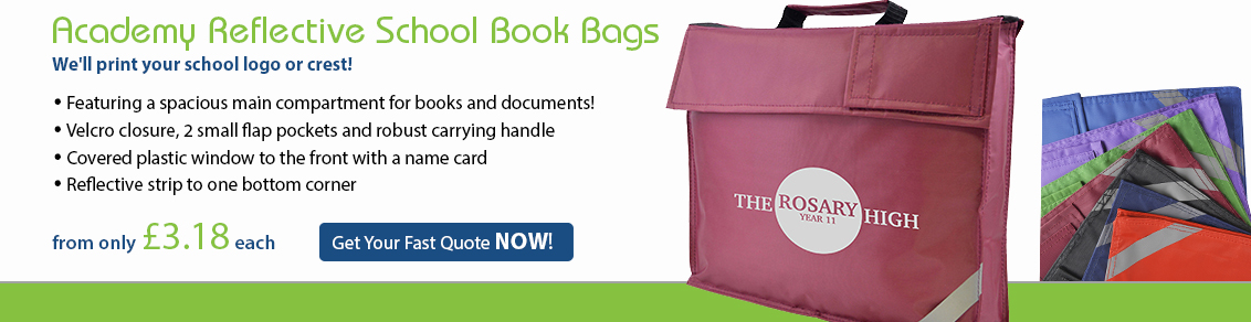 Academy Reflective School Book Bags