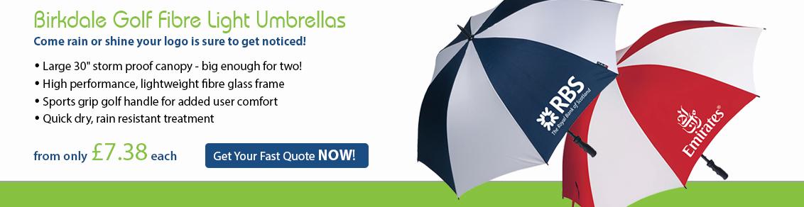 Birkdale Golf Fibre Light Umbrellas