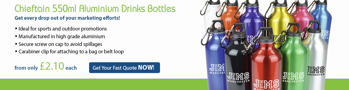 Chieftain 550ml Aluminium Sports Bottles