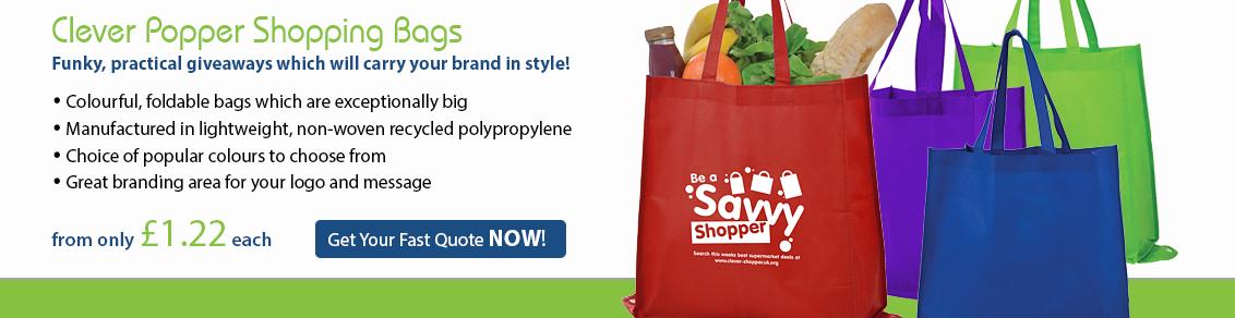 Clever Popper Shopper Bags