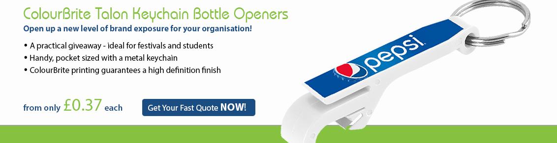 ColourBrite Talon Keychain Bottle Openers