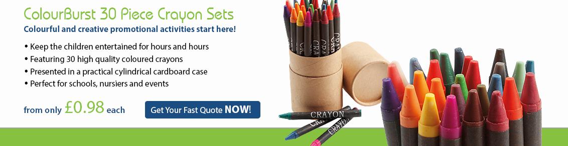 Colourburst 30 Piece Crayon Sets