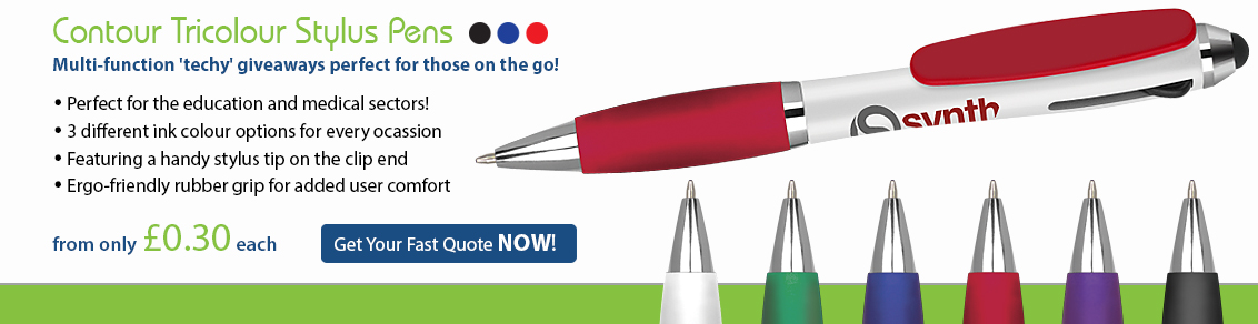Contour Tricolour Stylus Pens