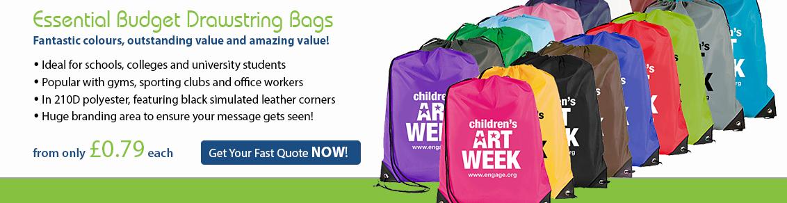 Essential Budget Drawstring Bags
