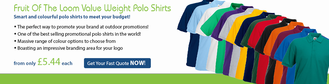 Fruit of the Loom Value Weight Polo Shirts