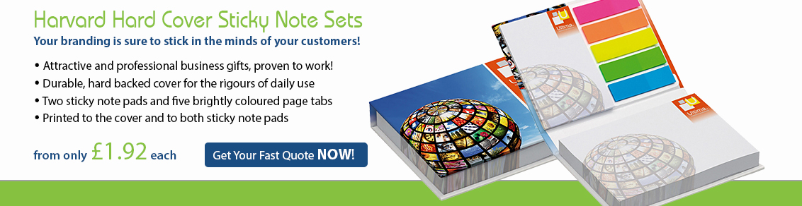 Harvard Hard Cover Sticky Note Sets