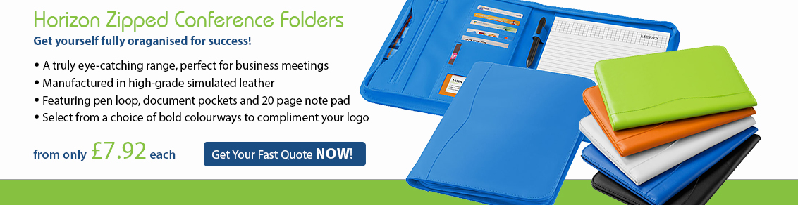 Horizon Zipped Conference Folders