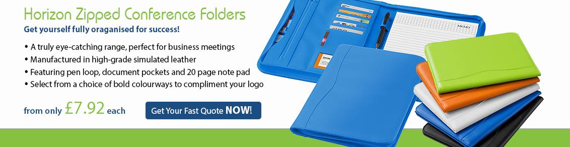 Horizon Zipped Conference Folders