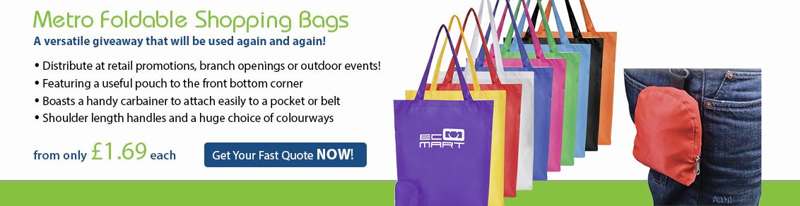 Metro Foldable Shopping Bags