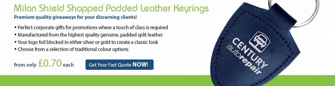 Milan Shaped Leather Keyrings