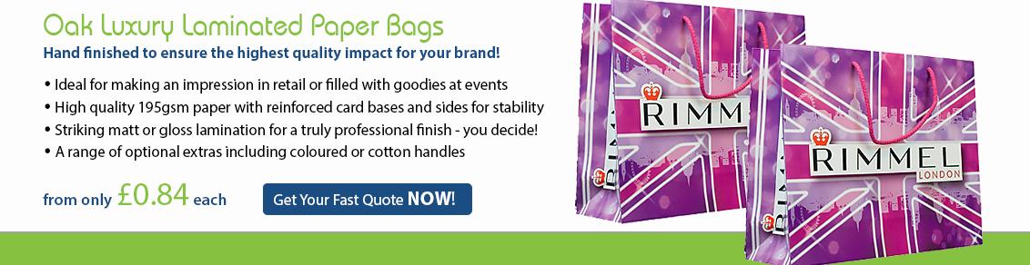 Oak Luxury Laminated Paper Bags