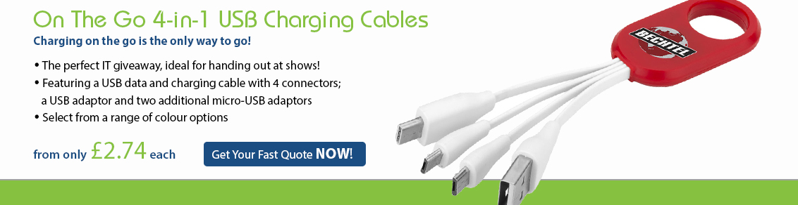 On The Go 4-in-1 USB Charging Cables