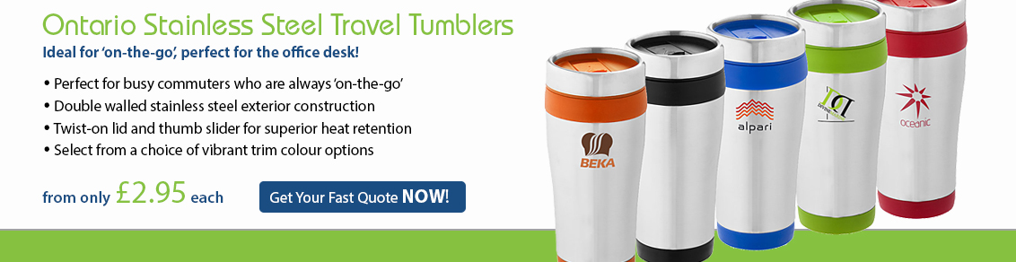 Ontario Stainless Steel Travel Tumblers