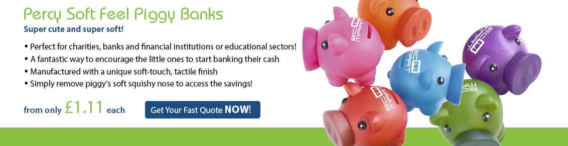 Percy Soft Feel Piggy Banks