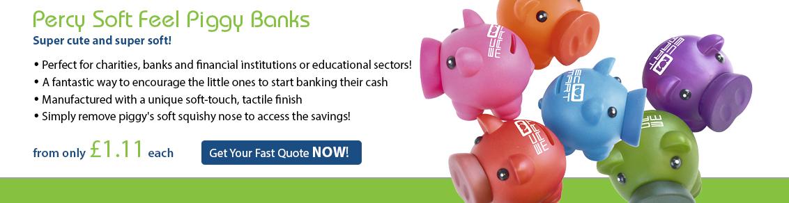 Percy Soft Feel Piggy Banks