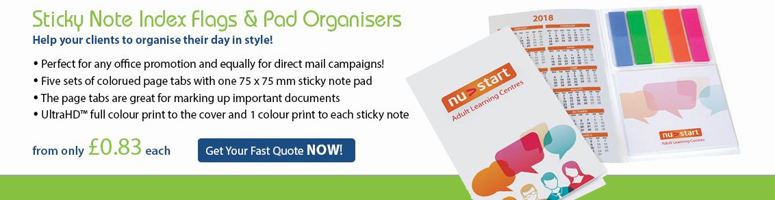 Post-It Note Index Flag & Pad Organiser