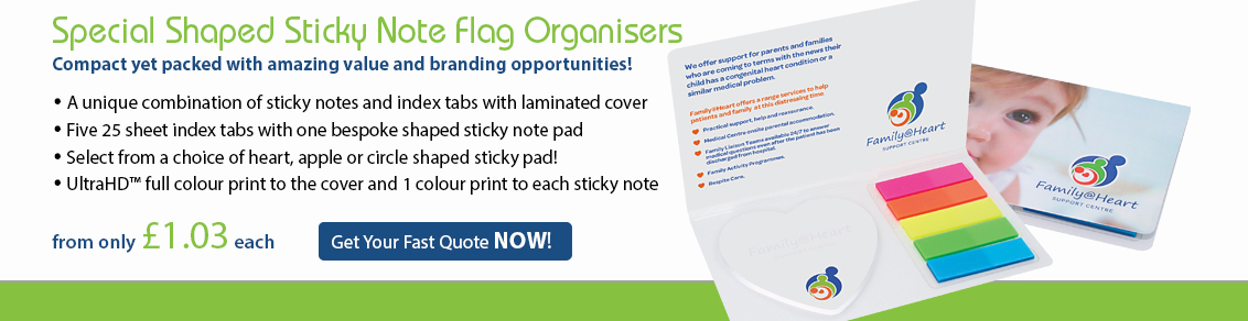 Special Shaped Sticky Note Flag Organisers