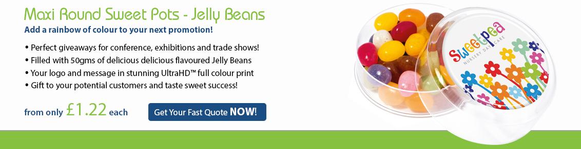 Maxi Round Sweet Pot - Jelly Beans