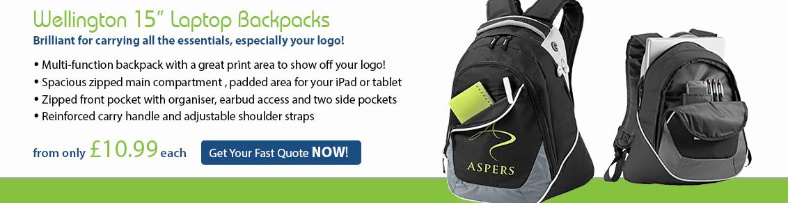 Wellington Laptop Backpacks