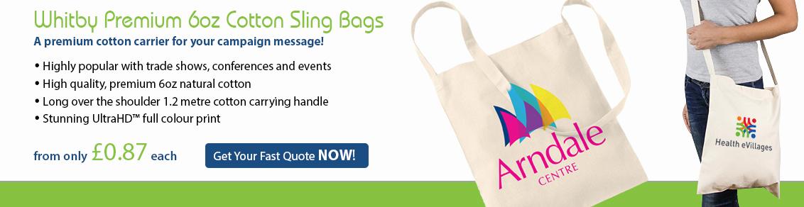 Whitby Premium 6oz Cotton Sling Bags