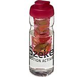 H20 Impact 650ml Flip Top Fruit Infuser Water Bottle