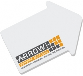 A7 Branded Arrow Shaped Sticky Note
