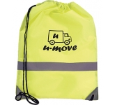 Neon High Visibiity Reflective Drawstring Bag