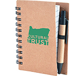 A7 Boston Natural Pocket Notebook & Pen