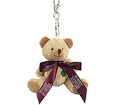 Baloo Bear Keyring With Bow