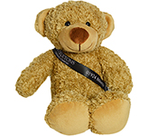 20cm Barney Bear With Ribbon Sash - Biscuit