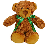 30cm Barney Bear With Bow - Chestnut