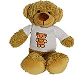 30cm Barney Bear With T-Shirt - Biscuit
